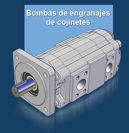 GPM Gama de bombaa de engranajes de cojinetes