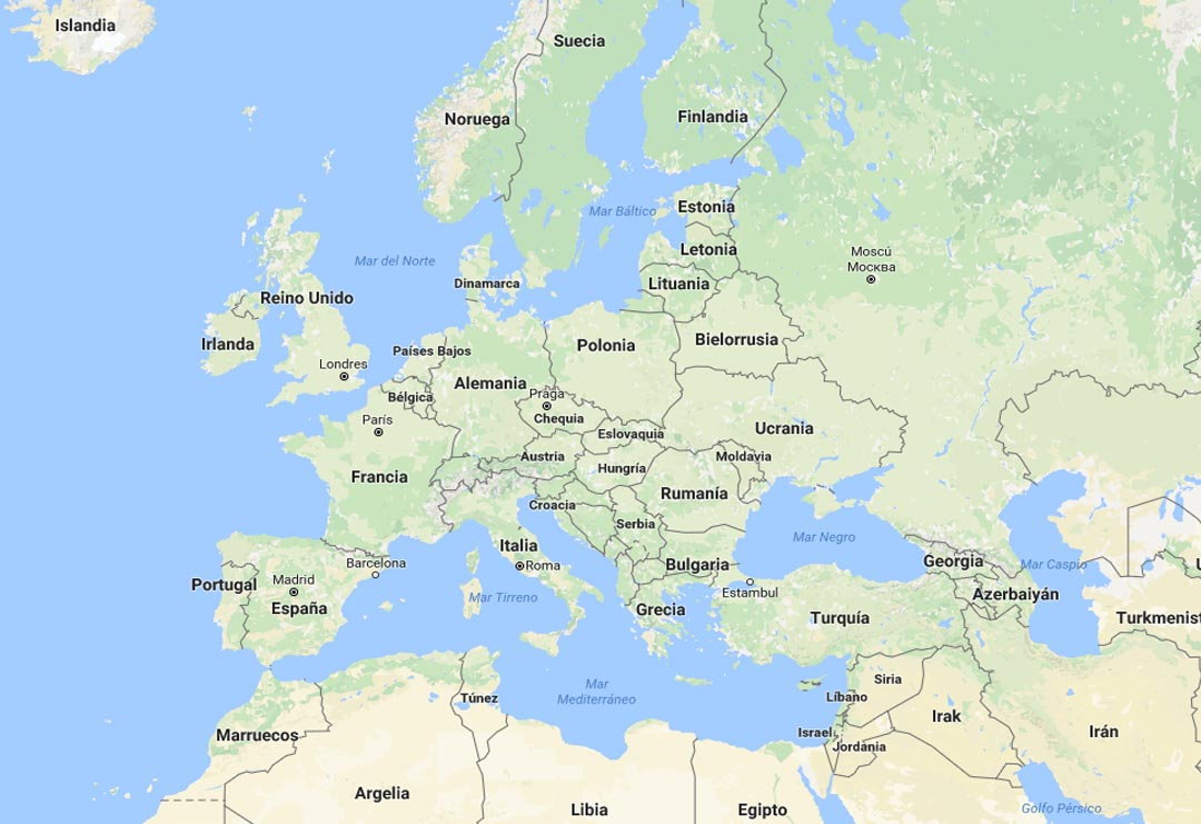 GPD territory of Europe and Middle East